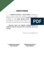 Carta Poder Tramite de Celular