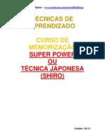 10 - Apostila de Memorização Super Power (TÉCNICA JAPONESA)