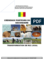 Usinage Et Transformation Du Riz Local
