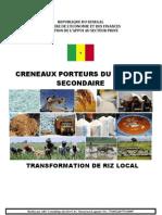 Usinage Et Transformation Du Riz Local
