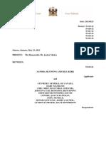 Federal Court Case judgement in the Robocalls Case