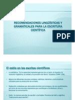 3. Presentación Recomendaciones liguisticas y gramaticales