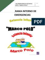 Programa Interno de Estancia Infantil Marco Polo2012