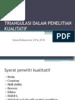 Triangulasi Dalam Penelitian Kualitatif