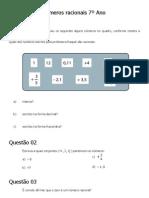 Conjunto dos números racionais 7º Ano