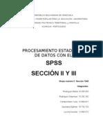 Sección II y III
