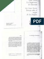 Derrida - La Linguistica de Rousseau