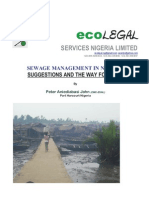 Peter Aniediabasi John, (CMC-ESNL); Sewage Control in Nigeria Suggestions and Ideas