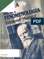 35572495 Husserl Edmund La Idea de La Fenomenologia