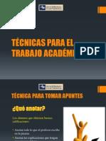 Técnicas para el trabajo académico