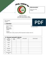 Form Medical Check Up