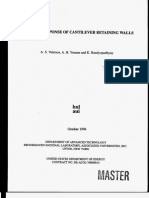 Dynamic Response of Cantiliver Retaining Walls, Veletsos and Younan