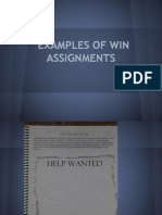 examples of win assignments