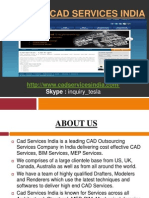 CAD Services India offers exclusive CAD Services, BIM Services and MEP Services