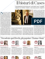 Le Valutazioni Di Cesare Cases Per Le Edizioni Einaudi - La Stampa 24.05.2013