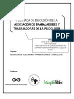 I Jornada de discusión de la Asociación de Trabajadores y Trabajadoras de la Psicología