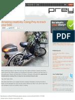 Amazing creativity_ Using Prey to track your bike – Prey