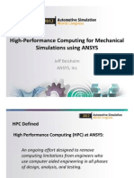 Hpc for Mechanical Ansys