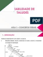 Estabilidade de Taludes - Aula 1