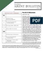 ES Parent Bulletin Vol#18 2013 May 24