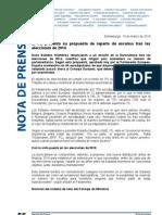 El PE presenta su propuesta de reparto de escaños tras las elecciones de 2014