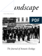 Soundscape. the Journal of Acoustic Ecology