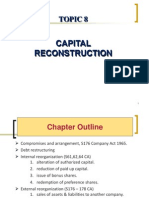 Topic 8 Capital Reconstruction 1