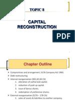 Topic 8 Capital Reconstruction 1