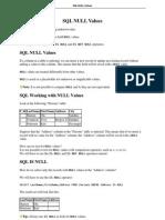 SQL Null Values