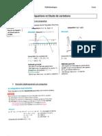 2nde Inéquations et Etude de variations