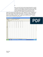 Profile Analysis How To