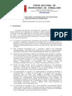 Proposta Fnpj Diretrizes Em Jornalismo 2009