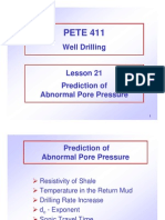 Abnormal Pore Pressure Prediction