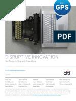 Citigroup - Disruptive Innovation