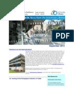Library Newsletter September 2012