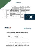 Modelo - Amonestaciones CSI