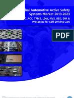 Global Automotive Active Safety Systems Market 2013-2023