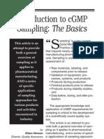 A Pocket Guide to cGMP Sampling