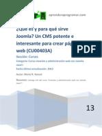 CU00403A Joomla Que Es CMS Crear Paginas Web Software Libre Curso Tutorial