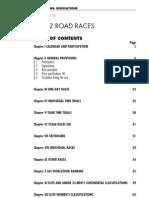 UCI Road Regulations