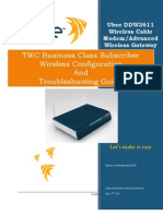 Ubee DDW3611 Wireless Config and Troubleshooting Guide 071111