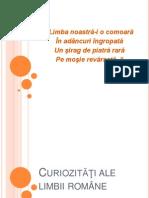 Curiozităţi ale limbii române