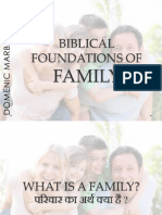 BIBLICAL FOUNDATIONS OF FAMILY - SLIDES