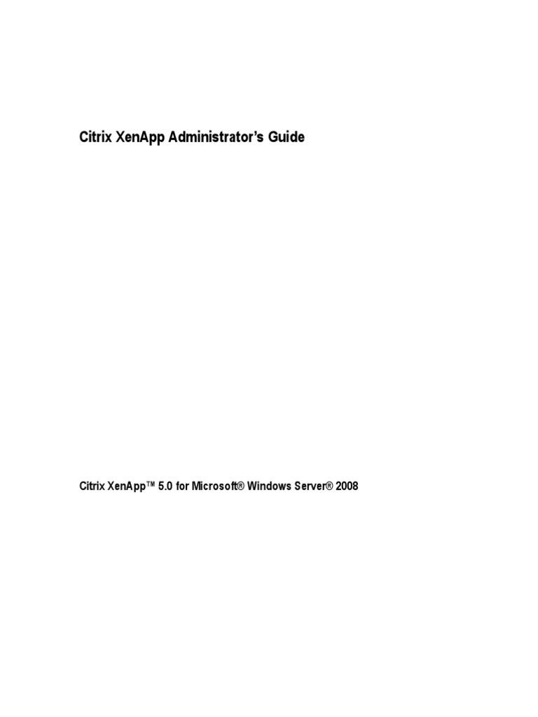 Citrix XenApp Administrators Guide | Command Line Interface