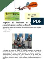 Fugitivo de Rondônia se passava por jornalista para assaltar na Paraíba.docx