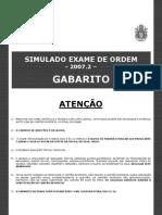 Simulado Do Exame de Ordem 20072