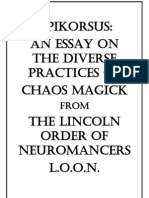 Apikorsus an Essay on the Diverse Practices of Chaos Magick