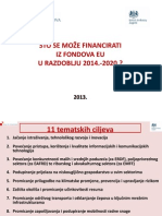 What Can Be Financed by EU Funds 2014-2020