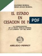 El Estado en Cesacion de Pagos - Alejandro Borda