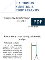 determination of sulfate by gravimetry Gravimetric analysis  precipitation gravimetry uses a precipitation reaction to separate one or more parts of a solution by incorporating it into a solid.